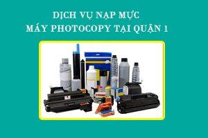 Dịch vụ nạp mực máy photocopy tại Q1 của Nguồn Lực Xanh