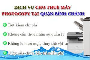 Đơn vị cung cấp dịch vụ cho thuê máy photocopy tại Bình Chánh